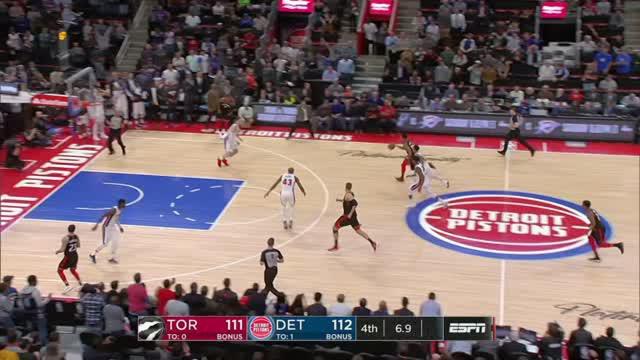 Berita video game recap NBA 2017-2018 antara Toronto Raptors melawan Detroit Pistons dengan skor 121-119.
