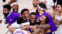 LA Lakers menjuarai NBA 2020 setelah mengalahkan Miami Heat 4-2. (Douglas P. DeFelice/AFP)