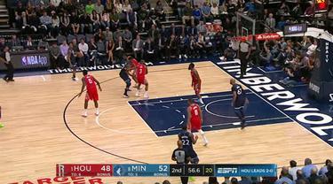 Berita video game recap NBA 2017-2018 antara Minnesota Timberwolves melawan Houston Rockets dengan skor 121-105.