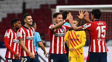 Atletico Madrid Taklukkan Barcelona di Wanda Metropolitano
