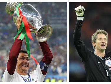 Foto Trivia Euro: 7 Pemain dengan Penampilan Terbanyak di Piala Eropa, Cristiano Ronaldo Rajanya Bersama Timnas Portugal