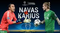 Final Liga Champions 2017/2018 Duel Keylor Navas Vs Loris Karius (Bola.com/Adreanus Titus)