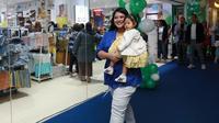 Kahiyang Ayu dan Sedah Mirah di peresmian gerai Mothercare Grand Indonesia pada Rabu, 31 Juli 2019. (Deki Prayoga/Dream.co.id)