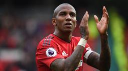 Ashley Young (48 gol) - Young menjadi salah satu bek sayap yang produktif mencetak gol saat bersama Manchester United. Pemain asal Inggris ini menjadi bek pencetak gol terbanyak di Premier League. (AFP/Paul Ellis)