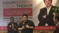 Ketua Tim Kampanye Nasional (TKN) Jokowi-Ma'ruf Amin, Erick Thohir (Liputan6.com/ Ratu Annisaa)