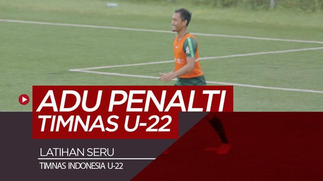 Berita video keseruan Timnas Indonesia U-22 saat berlatih adu penalti di Lapangan ABC, Senayan, Jakarta, Selasa (5/2/2019).