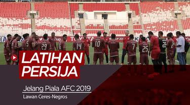 Berita video latihan Persija Jakarta di SUGBK, Senin (22/4/2019) jelang laga melawan Ceres-Negros di Piala AFC 2019.