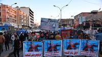 Demonstrasi masyarakat Irak menentang Mohamed Alawi sebagai Perdana Menteri baru. pada Minggu 2 Februari 2020. (Source: AP/ Khalid Mohammed)