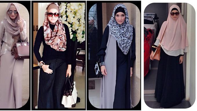 7 Inspirasi Fashion Berhijab Syar I Ala Ineke Koesherawati Beauty