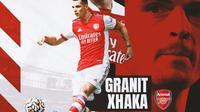 Arsenal - Ilustrasi Granit Xhaka (Bola.com/Adreanus Titus)