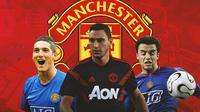 Manchester United - Federico Macheda, Matteo Darmian, Giuseppe Rossi (Bola.com/Adreanus Titus)