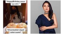 Sosok wanita sahabat Okin eks suami Rachel Vennya mendadak curi perhatian netizen. (Sumber: Instagram/@dantihanoum/TikTok/@apeye)