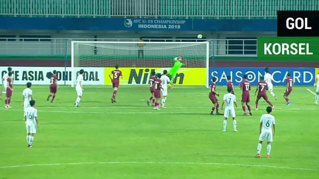 Berita video momen gol spektakuler Korsel (Korea Selatan) U-19 saat mengalahkan Qatar U-19 pada semifinal Piala AFC U-19 2018, Kamis (1/11/2018).