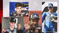 Fabio Quartararo, Maverick Vinales, Joan Mir dan Valentino Rossi. (Bola.com/Dody Iryawan)