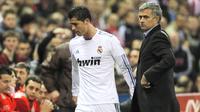 Jose Mourinho Cristiano Ronaldo (AP/ Andres Kudacki )