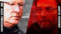 Ilustrasi - Sir Alex Ferguson dan Jurgen Klopp (Bola.com/Adreanus Titus)