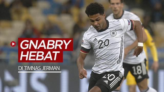 Berita video melihat catatan kehebatan bintang Bayern Munchen, Serge Gnabry, di Timnas Jerman.