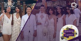 Nadine dan Dimas menggelar resepsi pernikahannya di Lombok pada 7 Juli kemarin.