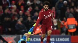 1. Mohamed Salah – Pemain yang selalu tampil konsisten sejak kedatangannya. Di awal tahun kedatangan sudah mampu membawa Liverpool melangkah ke final Liga Champions. (AFP/Paul Ellis)