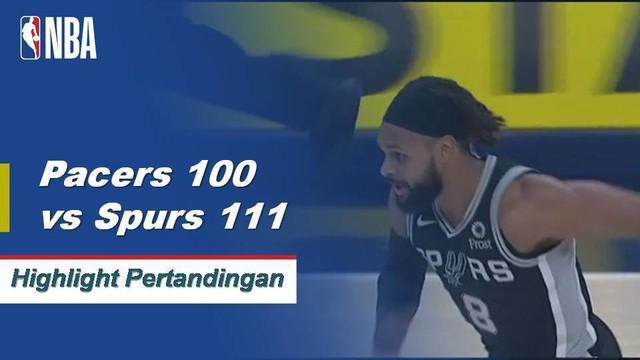 LaMarcus Aldridge mengumpulkan double-double dengan 33 poin dan 14 rebound saat Spurs mengalahkan Pacers, 111-100.