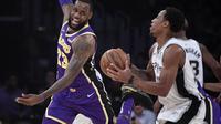 LeBron James memimpin Lakers kalahkan Spurs pada lanjutan NBA (AP)
