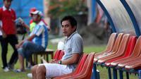 Mantan pemain Timnas Indonesia, Seto Nurdiyantoro. (Bola.com/Ronald Seger)