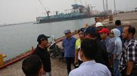 Kepala BP Batam Edy Putra Irawady beserta rombongan meninjau lahan dan aset BP Batam di Tanjung Uncang.