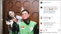 Viral cerita tentang pengemudi ojol yang mendapat orderan dari penyanyi Rossa (https://www.instagram.com/jr.usman/)