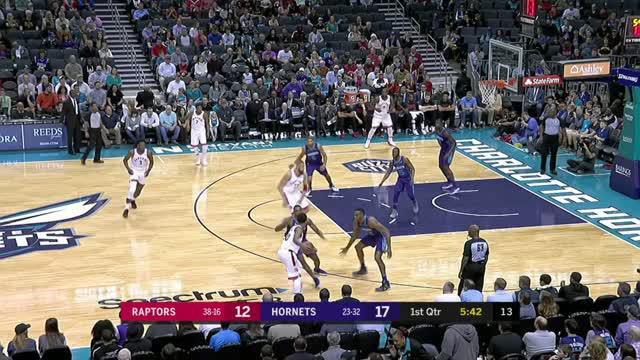 Berita video game recap NBA 2017-2018 antara Toronto Raptors melawan Charlotte Hornets dengan skor 123-103.