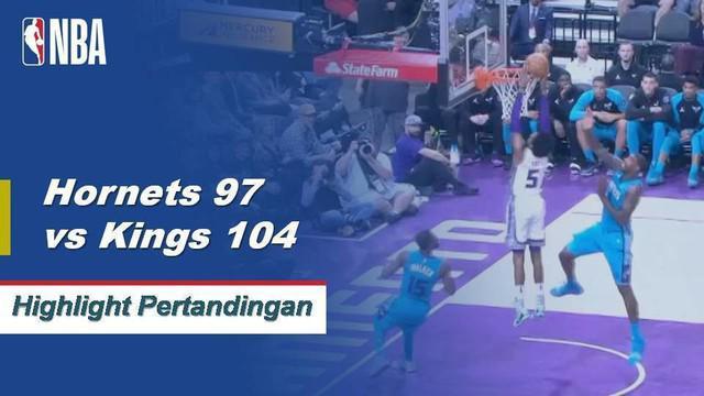 De'Aaron Fox dan Buddy Hield sama-sama mencetak 21 poin dan Bogdan Bogdanovic menambah 22 dari bangku cadangan ketika Kings memberikan Hornets kekalahan ketiga beruntun mereka.