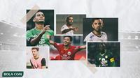 Kolase - Pemain Renan Silva, Evan Dimas, Thiago Amaral, Paulo Sergio, Stefano Lilipaly, Makan Konate (Bola.com/Adreanus Titus)
