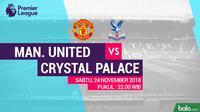 Premier League Manchester United Vs Crystal Palace (Bola.com/Adreanus Titus)