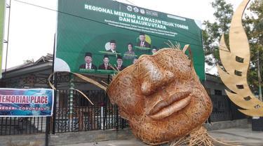 Pesan Moral dari Monumen Masker Bambu Raksasa di Gorontalo (Arfandi Ibrahim/Liputan6.com)