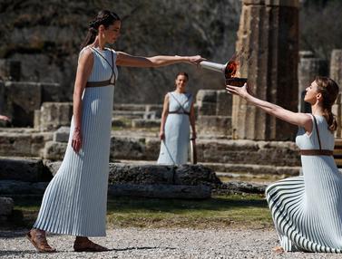 Obor Olimpiade Tokyo 2020 Dinyalakan di Yunani