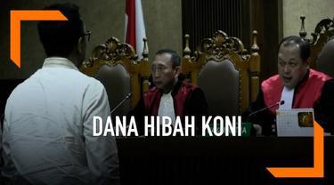 Menpora Imam Nahrawi menjadi saksi dalam kasus suap dana hibah KONI. Sidang Digelar di Pengadilan Tipikor dengan  terdakwa Sekjen KONI Ending Fuad Hamidy.