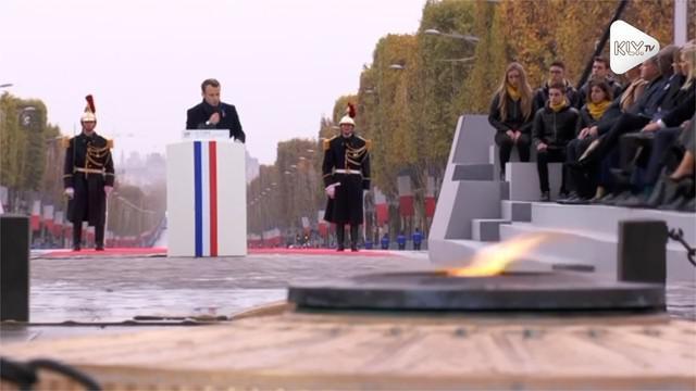 Presiden Perancis Emamanuel Macron tolak nasionalisme ala Donald Trump.