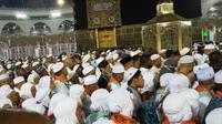 Jemaah haji Mandailing Natal merasakan kesedihan yang mendalam harus meninggalkan Tanah Suci. (Dream)
