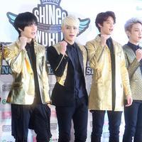 Boyband korea yang sudah mendunia, Shinee yang dibawah management SM Entertaiment. (AFP/Bintang.com)