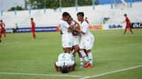 Singkatnya jeda antarpertandingan membuat pelatih Bima Sakti bakal melakukan rotasi pemain Timnas Indonesia U-15 saat menghadapi Singapura (28/7/2019). (dok. PSSI)