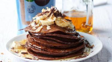 Menu Sarapan Sehat, Chocolate Coconut Banana Pancakes