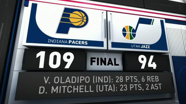 Berita video game recap NBA 2017-2018 antara Indiana Pacers melawan Utah Jazz dengan skor 109-94.