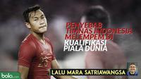 Lalu Mara Satriawangsa: Mengurai Masalah yang Membuat Timnas Indonesia Melempem di Kualifikasi Piala Dunia. (Bola.com/Dody Iryawan)