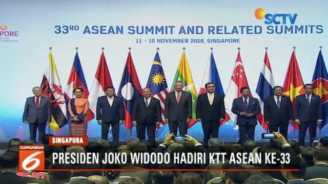 Hadiri KTT Asean ke-33 di Singapura, Presiden Jokowi tawarkan konsep indopasifik yang mengubah potensi ancaman  dan ketegangan ekonomi global serta perdagangan bebas menjadi kerja sama dan perdamaian.