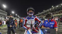 Pembalap Pertamina Mandalika SAG Team, Bo Bendsneyder saat mengikuti balapan Moto2 Qatar 2021. (Pembalap Pertamina Mandalika SAG Team)