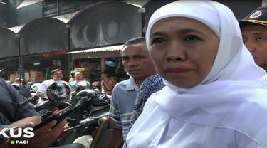 Cawagub Jatim Puti Guntur Soekarno menawarkan program unggulannya. Sedangkan, Cagub Khofifah memilih Blusukan ke Pasar Tanjung, Jember.