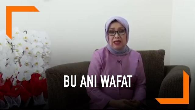 Istrri Wapres Jusuf Kalla, Mufidah Kalla mengucapkan belasungkawa atas wafatnya Ani Yudhoyono.