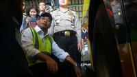 Menhub Budi Karya akan menerapkan sistem penjualan tiket online pada PO Bus. Foto (Liputan6.com / Panji Prayitno)