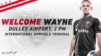 Pemain Inggris, Wayne Rooney, resmi pindah dari Everton ke DC United. (Twitter/DC United)