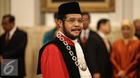 Ketua Mahkamah Konstitusi Anwar Usman sebelum pengucapan sumpah sebagai Hakim Konstitusi (Liputan6.com/Faizal Fanani)