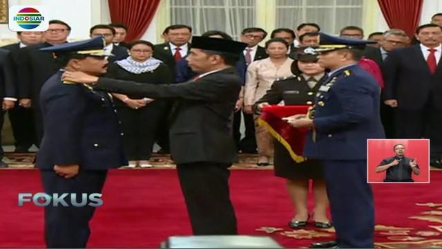 Hadi Tjahjanto bertugas menggantikan Jenderal TNI Gatot Nurmantyo yang memasuki masa pensiun pada Maret 2018.